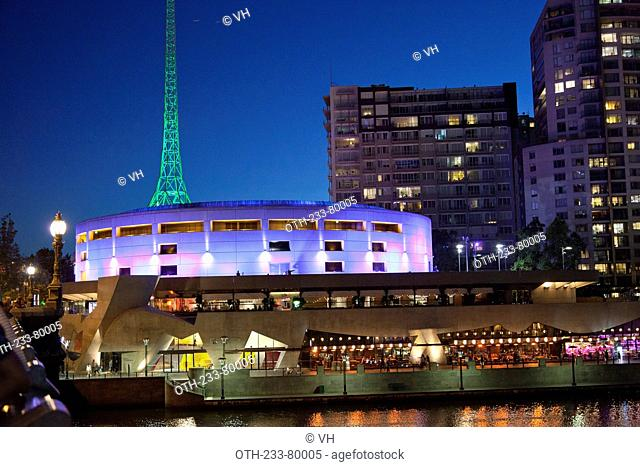 Southbank at night, Melbourne, Victoria, Australia