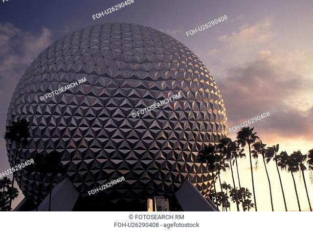 sphere, Orlando, FL, Florida, Disney World, Epcot, Lake Buena Vista, Spaceship Earth in Epcot Center at Walt Disney World in Lake Buena Vista
