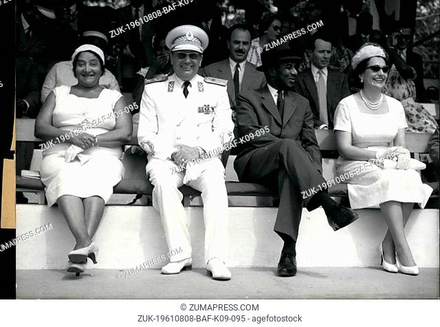 Aug. 08, 1961 - Tito in Tooo - After his state visit in Ghana the State President Yugoslavia, Marshall Tito, Travelled to Togo which was formerly a German...
