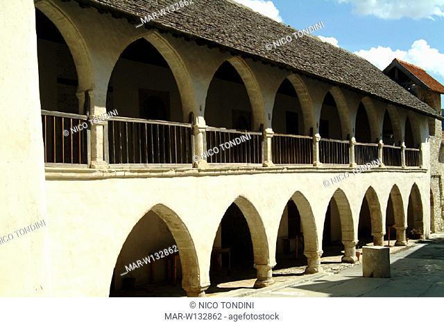 europe, cyprus, omodos, santa croce monastery, timiou mountain