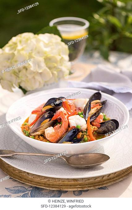 Seafood soup with peppers