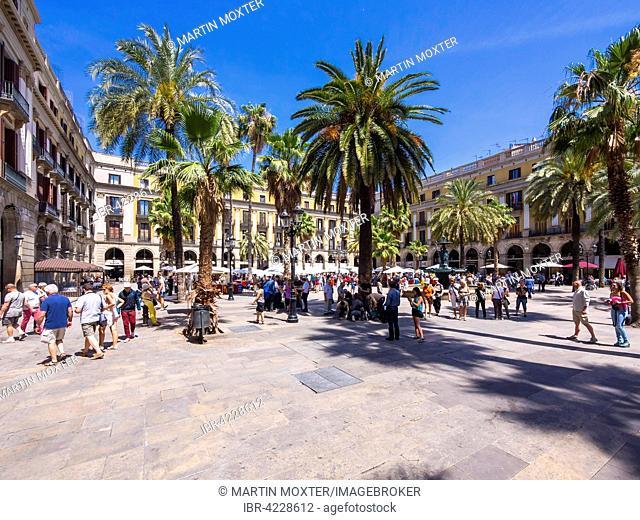Place Reial, Gothic Quarter, Barcelona, ??Catalonia, Spain