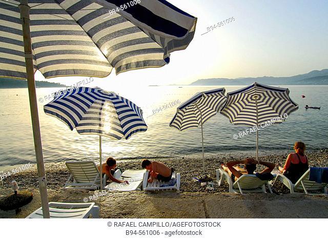 Beach. Cavtat (Old Ragusa). Croatia