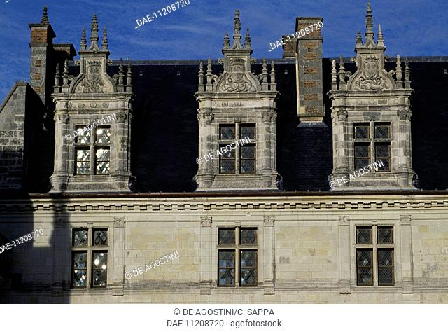 Windows of Chateau d'Amboise, Loire Valley (UNESCO World Heritage List, 2000), Centre, France, 13th-19th century