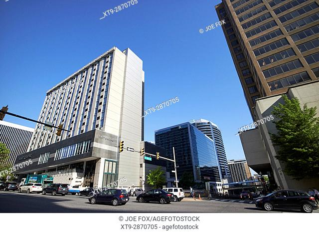 north fort myer drive junction with wilson boulevard through rosslyn virginia Washington DC USA
