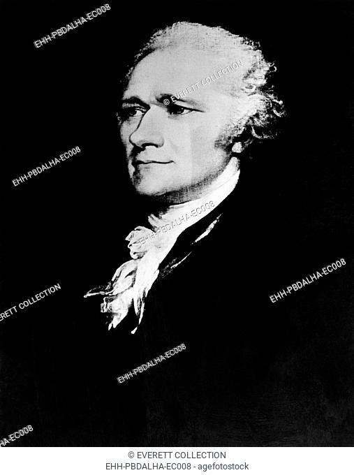Alexander Hamilton (1755-1804), American politician, circa 1790s