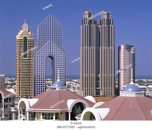 United Arabic emirates, Dubai, skyscrapers  Fore Orient, Near east, near east, Arabic peninsula Arabia VAE of United Arab emirate UAE, emirate, sheikdom