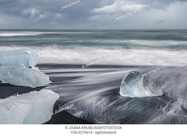 Jokulsarlon, Diamond Beach, Austurland, Iceland, Europe