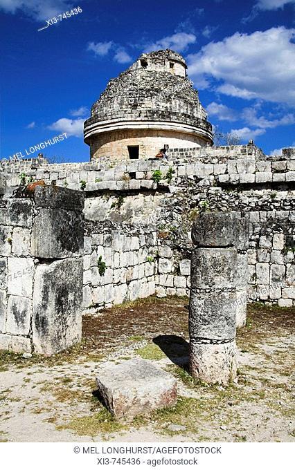 El Caracol, The Observatory, Chichen Itza Archaeological Site, Chichen Itza, Yucatan State, Mexico