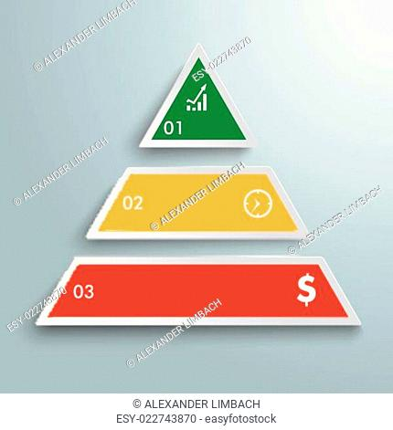 Colored Pyramide 3 Pieces Infographic PiAd