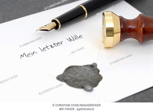 Last will (German)