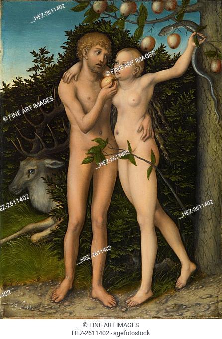 The Fall of Man, after 1537. Artist: Cranach, Lucas, the Elder (1472-1553)