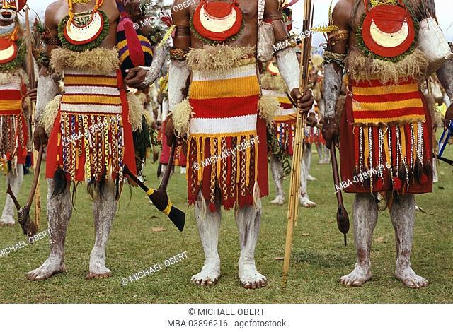 Ozeanien, Melanesien, Papua New Guinea, highland, Goroka, Highland-Show, Keremun-Stamm, chorus, detail, island state, culture, tradition, event, party