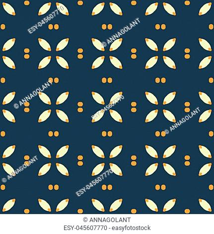 Geometric seamless pattern with lines, stripes and dots, circles. Modern, minimalist background for printing on paper, fabric, scrapbooking, covers