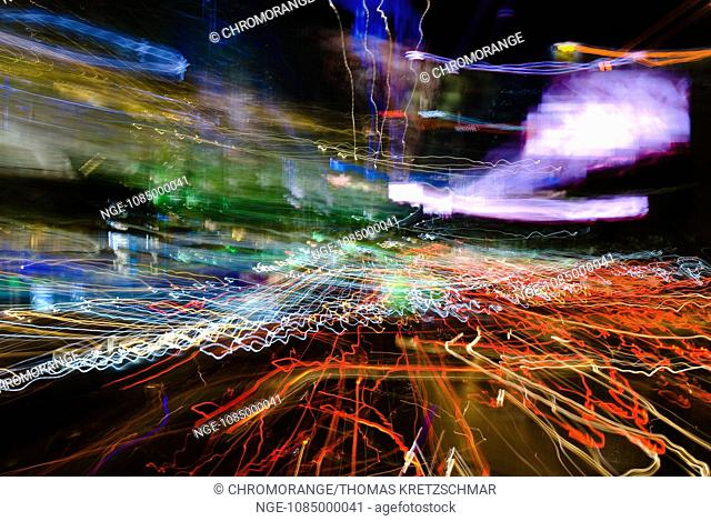 Big City Lights Bangkok Abstract Art
