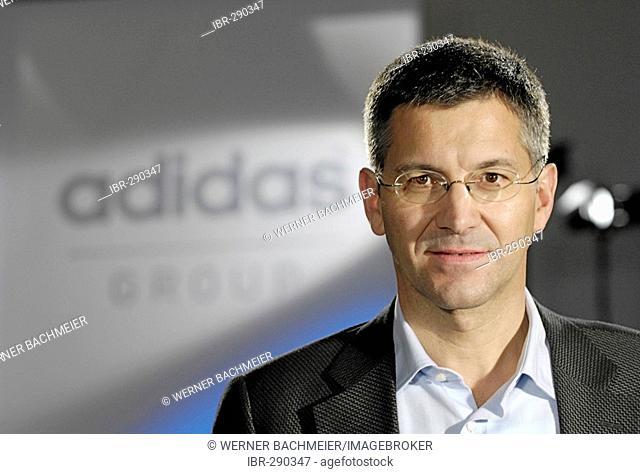 Herbert Hainer, CEO. ADIDAS Group, Herzogenaurach - press conference on financial statements