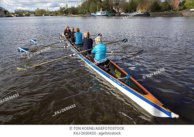 rowing on the Amstel river