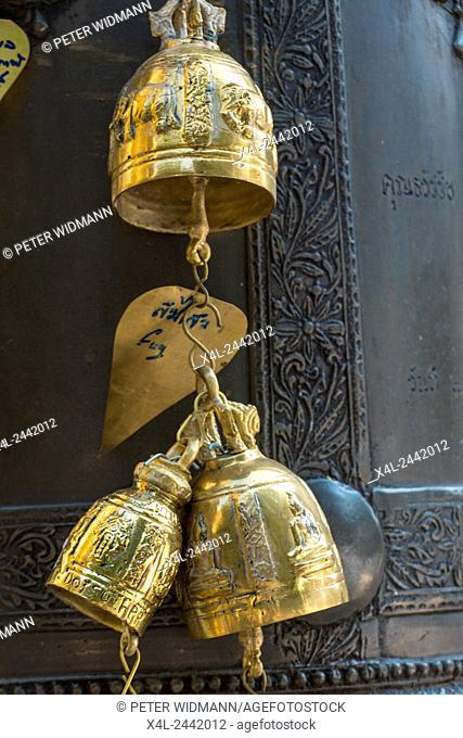 Bells in the wind at Wat Phra That Doi Suthep, Temple, Chiang Mai, Northern Thailand, Thailand, Asia