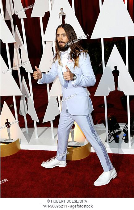 Actor Jared Leto attends the 87th Academy Awards, Oscars, at Dolby Theatre in Los Angeles, USA, on 22 February 2015. Photo: Hubert Boesl - NO WIRE SERVICE -  ...