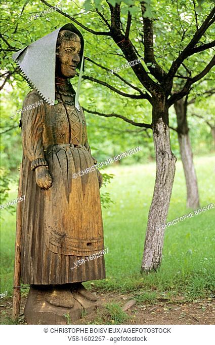 Poland, Krakow region, Wygielzow, Vistula river Ethnographic Park, Figured beehive