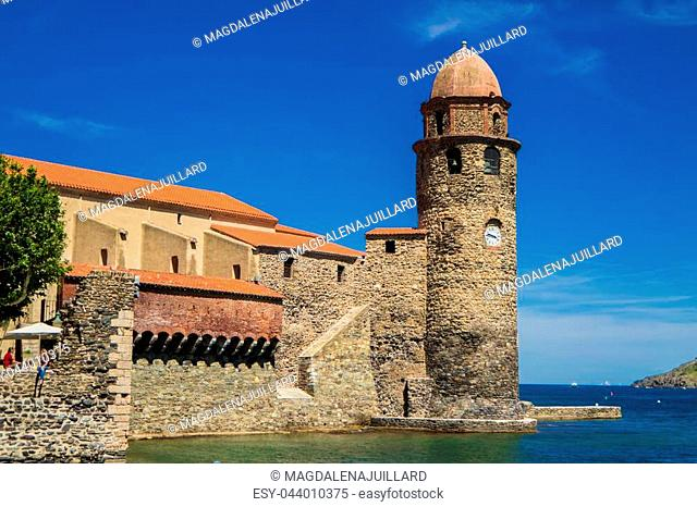 Our lady of the angels Church in Collioure, France