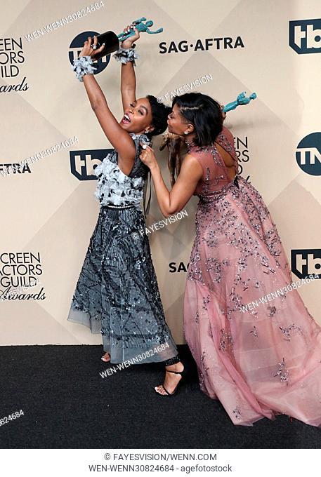 23rd Annual Screen Actors Guild Awards - Press Room Featuring: Janelle Monae, Taraji P. Henson Where: Los Angeles, California