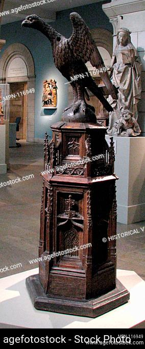 Lectern for Reading Scripture. Date: ca. 1475-1525; Culture: French; Medium: Oak; Dimensions: Overall: 80 x 32 x 32 1/2 in. (203.2 x 81.3 x 82