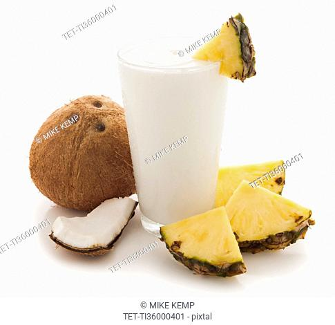 Coconut and pineapple smoothie