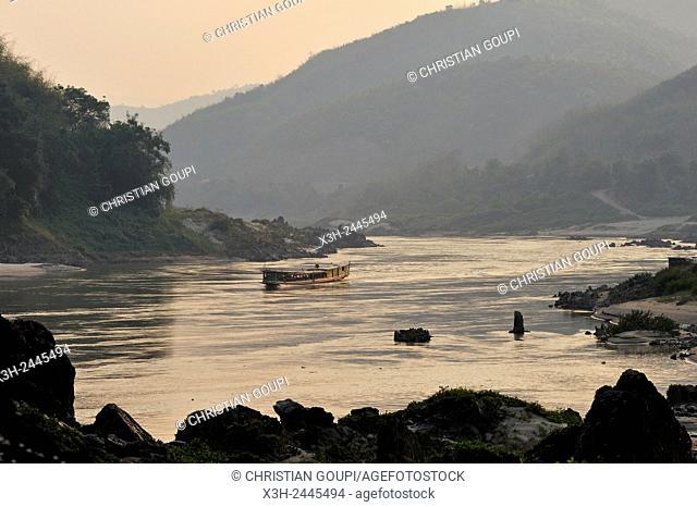 Mekong River, Pakbeng, Oudomxay Province, Laos, Southeast Asia