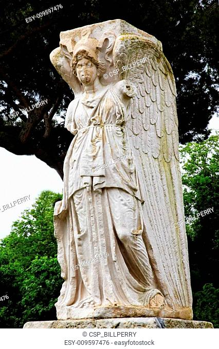 Ancient Roman Angel Statue Ostia Antica Rome Italy