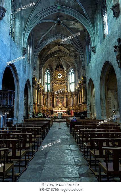 Saint-Pierre Basilica, interior, Avignon, Vaucluse, France