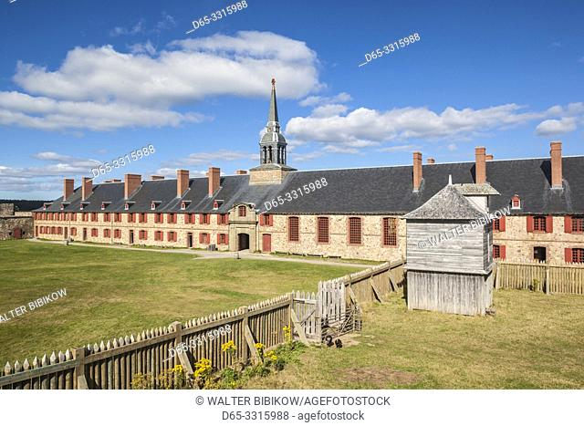 Canada, Nova Scotia, Louisbourg, Fortress of Louisbourg National Historic Park, Kings Bastion Barracks