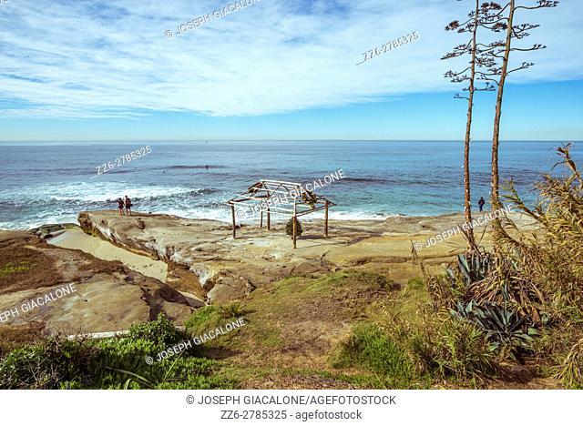 Windansea Beach on a morning in December. La Jolla, California