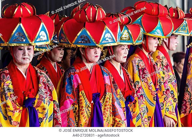 Okinawan folk event in Lima, Peru