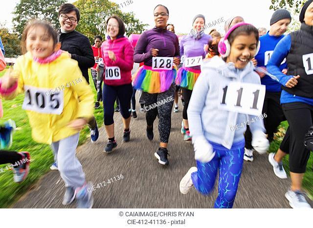 Runners running at charity run