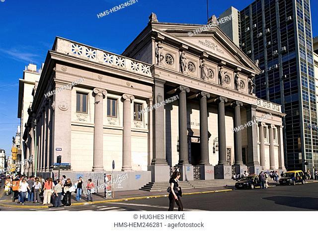 Argentina, Buenos Aires, Plaza Lavalle Lavalle Square, the Presidente Roca College