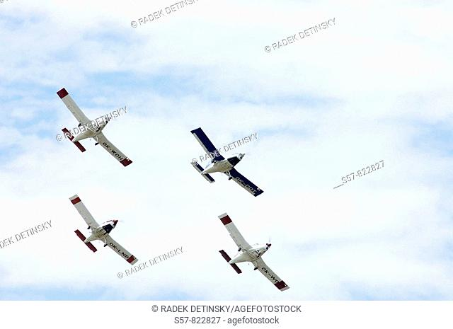 four planes at airshow