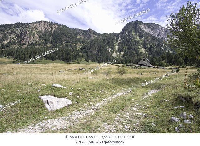 Bahns de Tredos Pyrenees landscape Aran valley Lleida Catalunya Spain