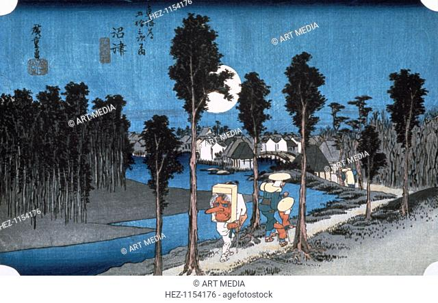 'Moon at Numazu', from 53 stations of Tokaido, 1832. From a private collection