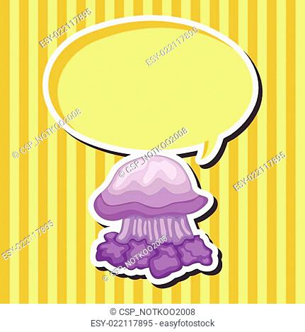 jellyfish theme elements vector,eps