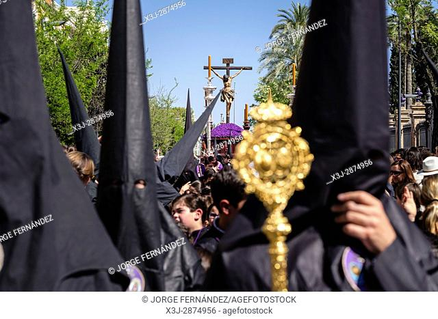 During the Easter week, processions with the image of Christ and the virgin Mary parade around Seville. Monaguillos priest
