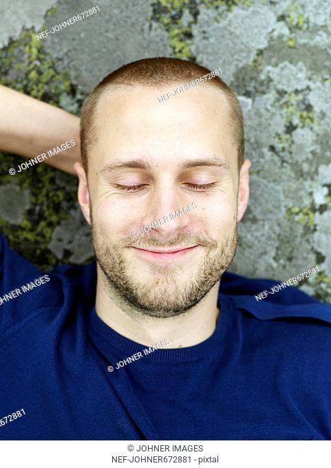 Portrait of a happy man, Sweden