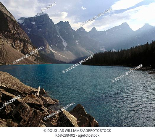 Moraine Lake in Banff National Park. Alberta, Canada
