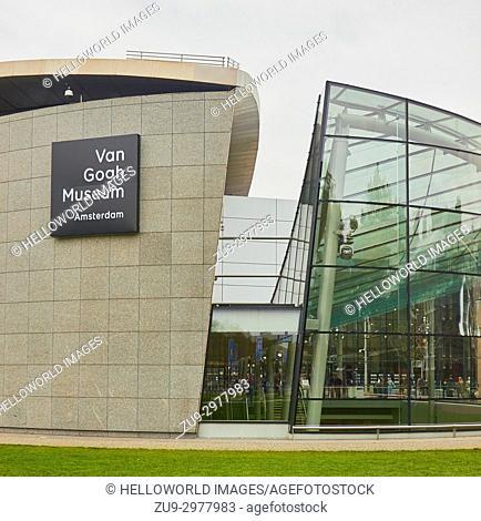 Modern extension of the Van Gogh Museum by Kisho Kurokawa, Museumplein, (Museum Square), Amsterdam, Holland