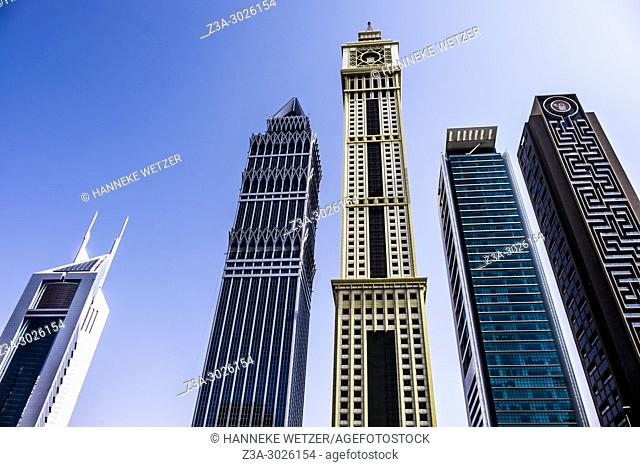 Modern architecture at the WTC in Dubai, UAE