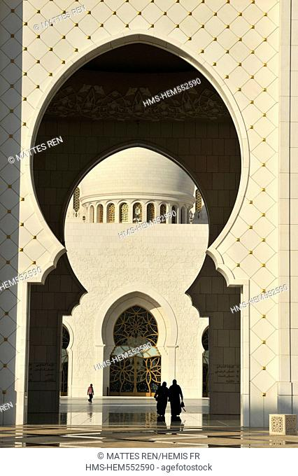 United Arab Emirates, Abu Dhabi, Sheikh Zayed Bin Sultan Al Nahyan Mosque