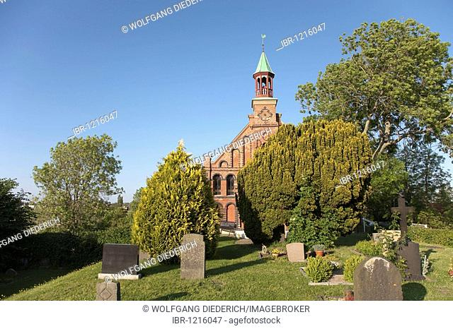 St Theresien Church, old catholic municipality on Nordstrand, Schleswig-Holstein, North Germany, Germany, Europe