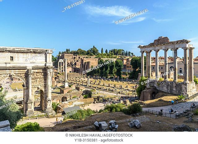 View of Roman Forum looking south, Rome, Italy