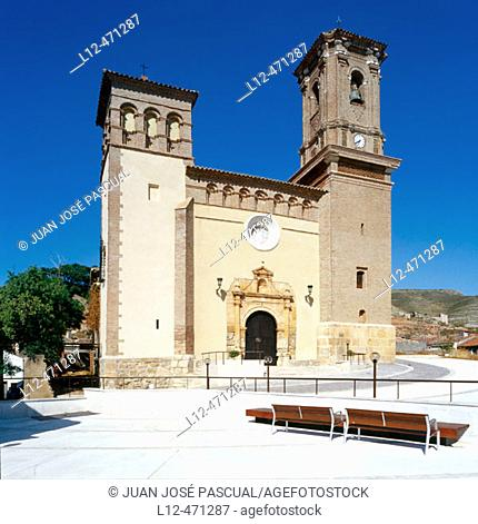 Church, Montón. Zaragoza province, Aragón, Spain