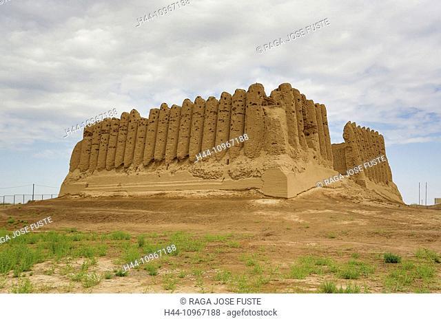 Ancient, Kyz- Kala, Merv, Turkmenistan, Central Asia, Asia, archaeology, architecture, big, city, culture, history, touristic, travel